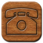 Phone Woodburning Icon
