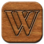 Wikipedia Woodburning Icon