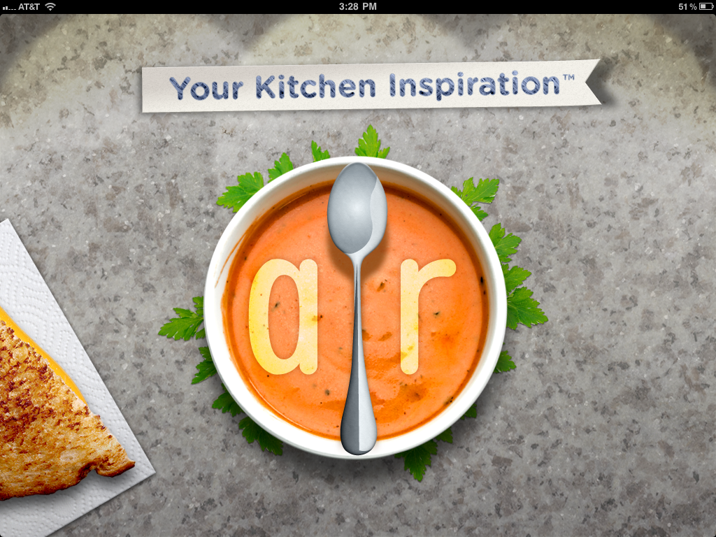 AllRecipes iPad Splash Screen