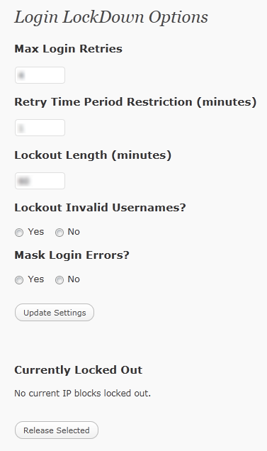 Login Lockdown Dashboard