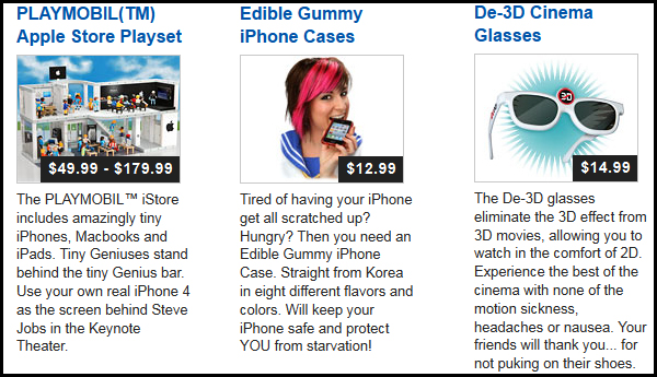 Three ThinkGeek April Fool's Gags