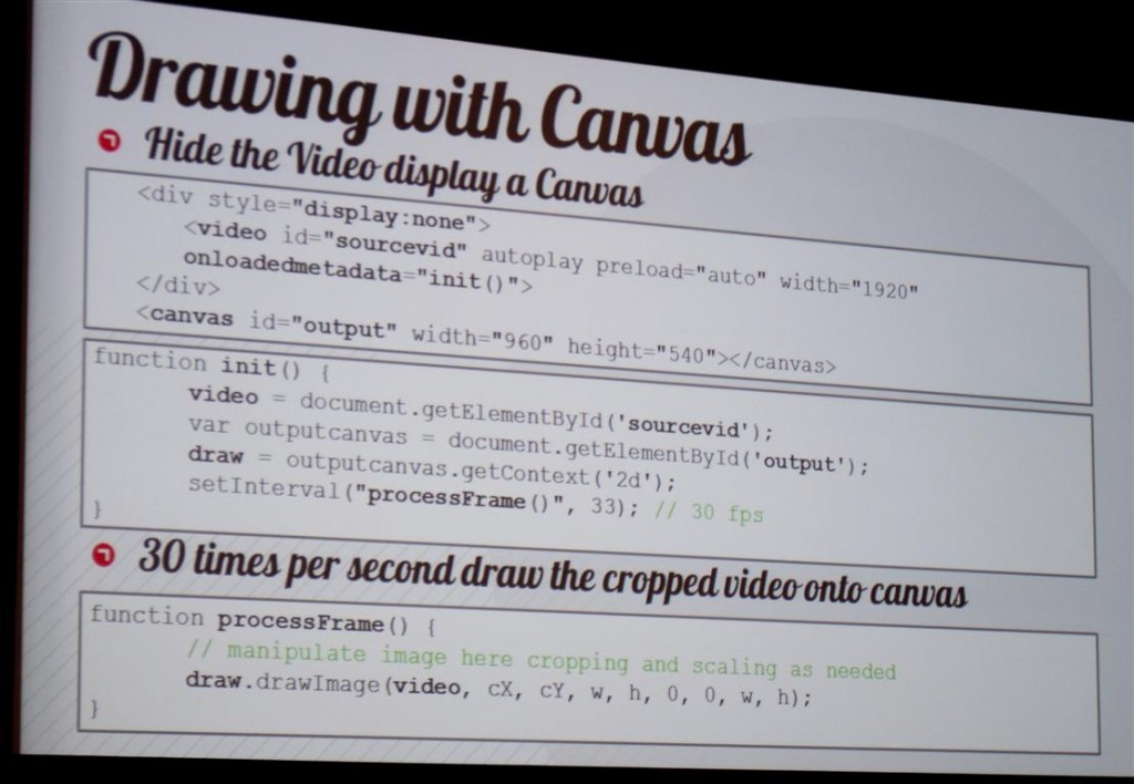 Drawing HTML5 Video with Canvas
