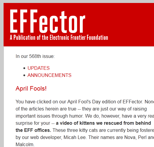 EFFector: April Fool's Edition