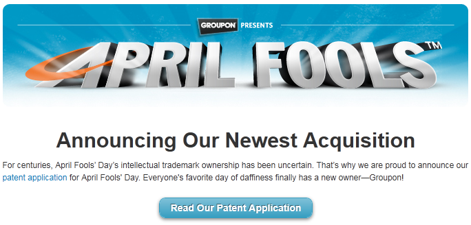 Groupon Patents April Fool's Day 2011