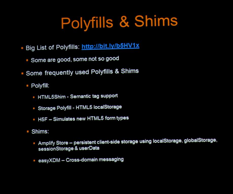Polyfills vs Shims & Frequently Used Polyfills