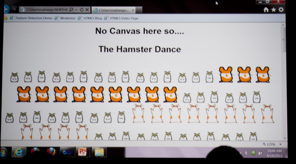 Hamster Dance at MIX11