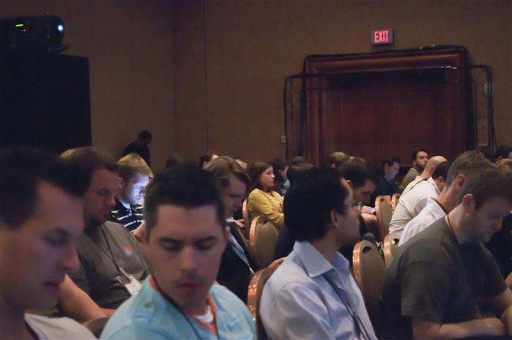 MIX11 Lightning UX Session Packed Audience