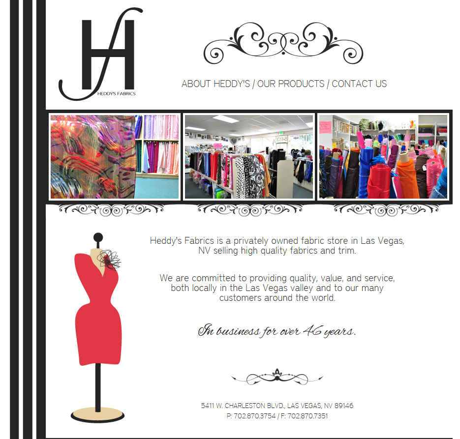 Heddy's Fabrics Home Page