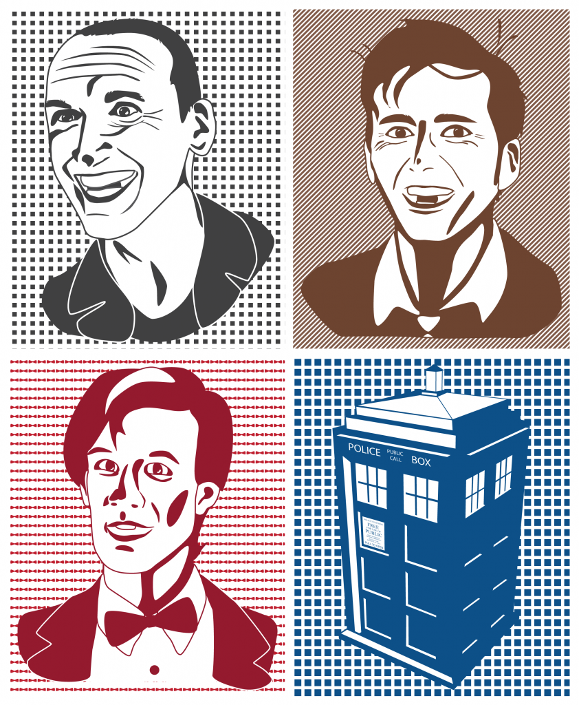 Three Doctor Who Doctors