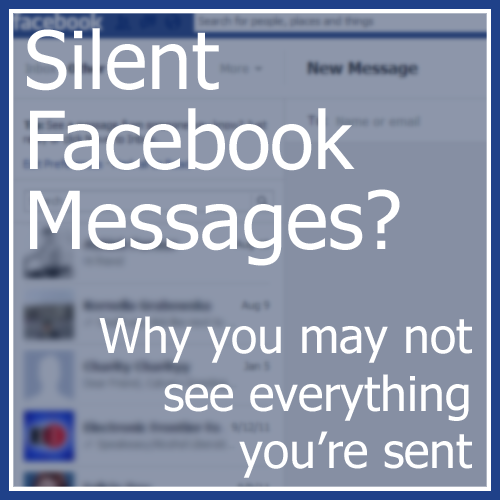 Silent Facebook Messages